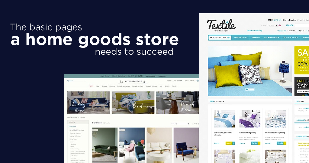 The basic pages a home goods store needs to succeed