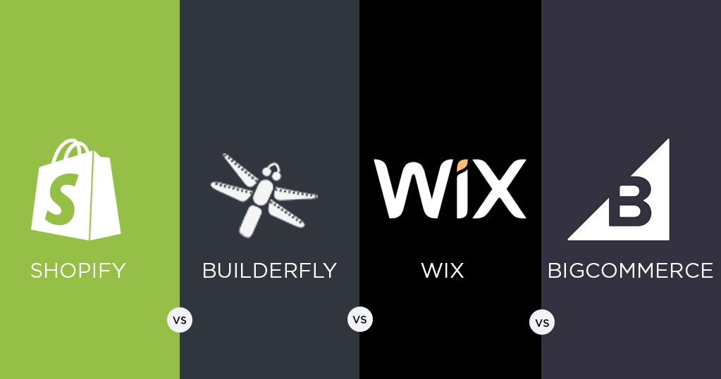 Ecommerce Platforms Comparison - Shopify vs. Builderfly vs. Wix vs. Bigcommerce in 2020