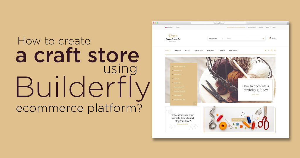 How to create a craft store using Builderfly ecommerce platform