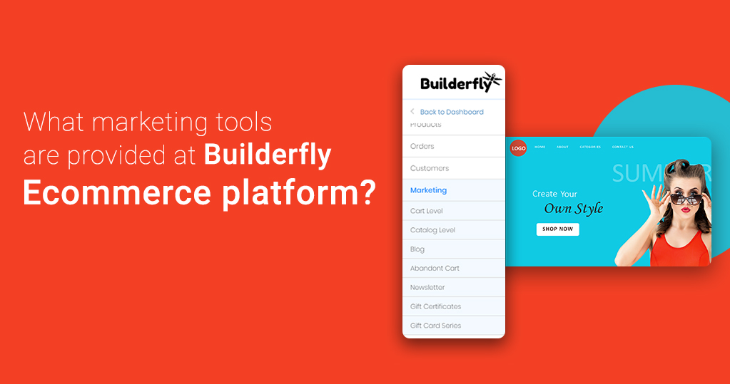 What Marketing Tools are provided at Builderfly Ecommerce Platform