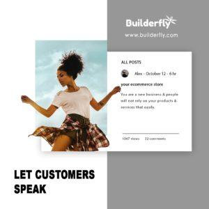 Let customers speak