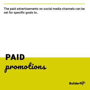Paid promotions