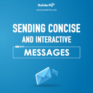 Sending concise and interactive messages